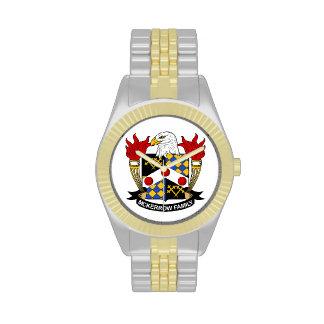 Escudo de la familia de McKerrow Relojes