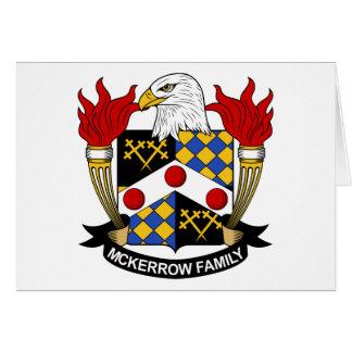 Escudo de la familia de McKerrow Tarjetón