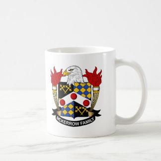 Escudo de la familia de McKerrow Taza De Café