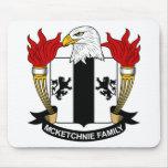 Escudo de la familia de McKetchnie Tapete De Raton