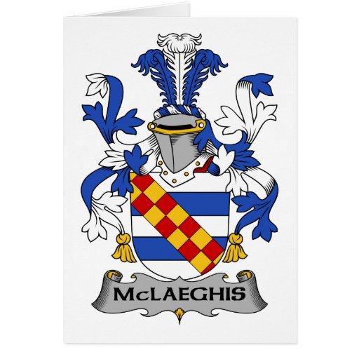 Escudo de la familia de McLaeghis Tarjeta De Felicitación