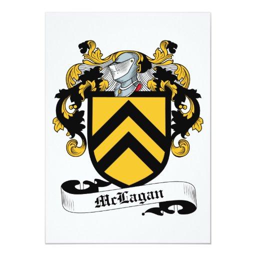 Escudo de la familia de McLagan Invitación 12,7 X 17,8 Cm