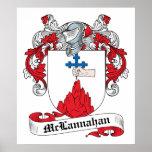 Escudo de la familia de McLannahan Poster