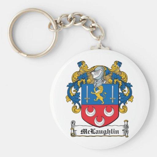 Escudo de la familia de McLaughlin Llavero Redondo Tipo Pin