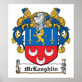 Escudo de la familia de McLaughlin Póster