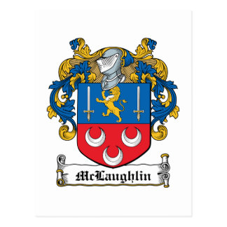 Escudo de la familia de McLaughlin Tarjetas Postales