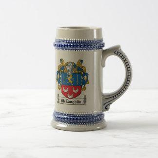 Escudo de la familia de McLaughlin Jarra De Cerveza