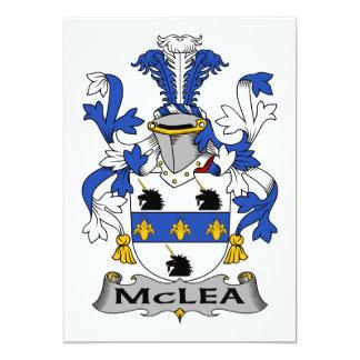 Escudo de la familia de McLea Invitación 12,7 X 17,8 Cm