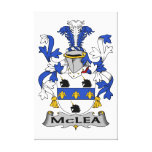 Escudo de la familia de McLea Lienzo Envuelto Para Galerias