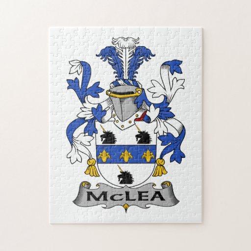 Escudo de la familia de McLea Rompecabezas Con Fotos