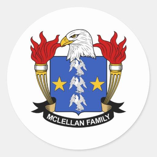 Escudo de la familia de McLellan Pegatina