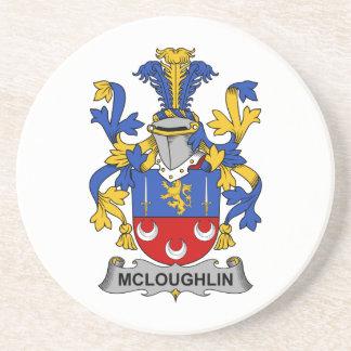 Escudo de la familia de McLoughlin Posavasos Cerveza