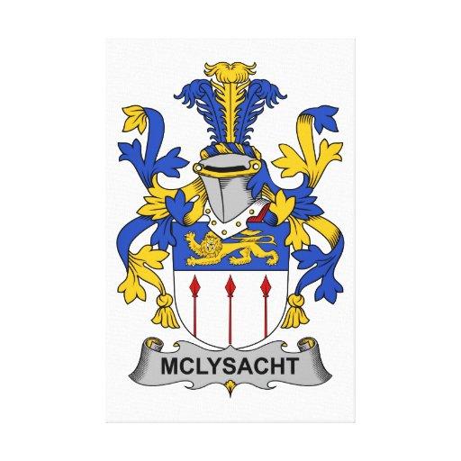 Escudo de la familia de McLysacht Lienzo Envuelto Para Galerías