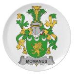 Escudo de la familia de McManus Plato