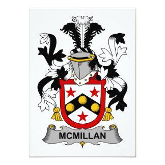 """Escudo de la familia de McMillan Invitación 5"""" X 7"""""""