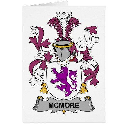 Escudo de la familia de McMore Tarjeta De Felicitación