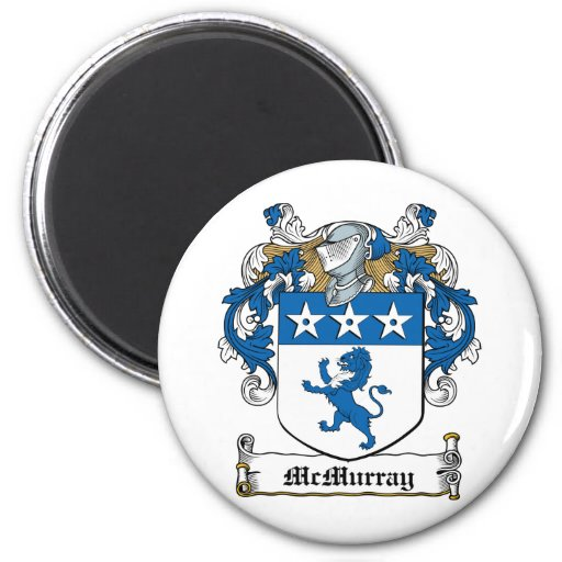 Escudo de la familia de McMurray Imán Redondo 5 Cm