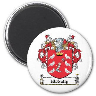 Escudo de la familia de McNally Imán Redondo 5 Cm