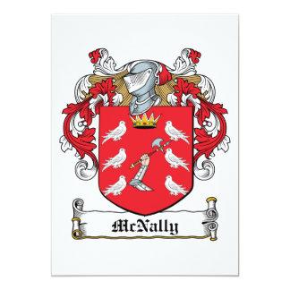 """Escudo de la familia de McNally Invitación 5"""" X 7"""""""