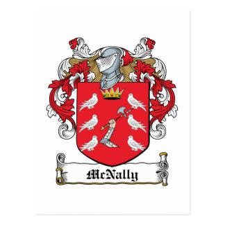 Escudo de la familia de McNally Postales