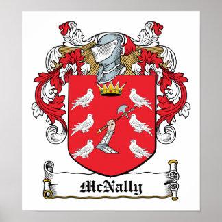 Escudo de la familia de McNally Póster