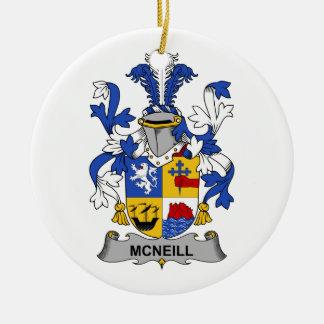 Escudo de la familia de McNeill Ornamentos De Reyes Magos