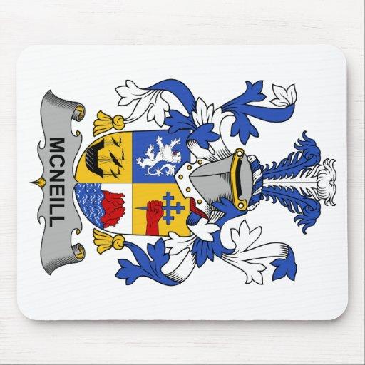 Escudo de la familia de McNeill Tapetes De Ratones