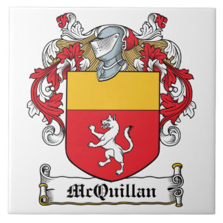 Escudo de la familia de McQuillan Azulejo Cuadrado Grande