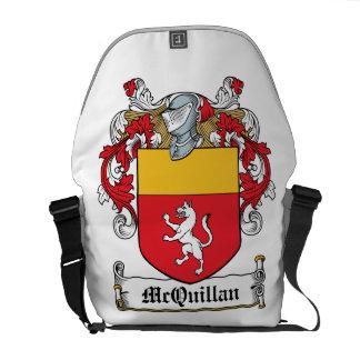 Escudo de la familia de McQuillan Bolsa De Mensajeria