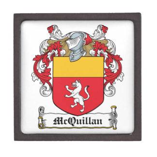 Escudo de la familia de McQuillan Caja De Regalo De Calidad