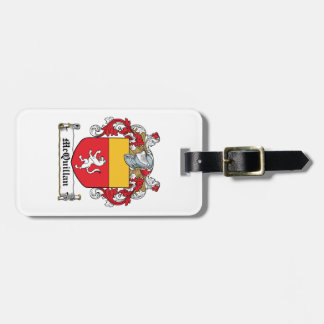 Escudo de la familia de McQuillan Etiquetas Para Maletas