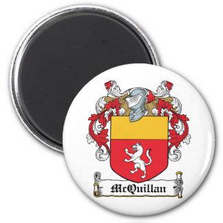 Escudo de la familia de McQuillan Imán Redondo 5 Cm