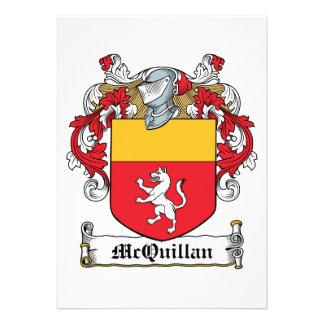 Escudo de la familia de McQuillan Invitacion Personalizada