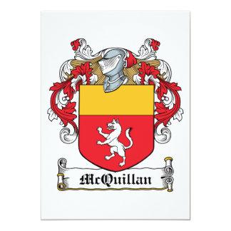 """Escudo de la familia de McQuillan Invitación 5"""" X 7"""""""