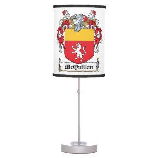 Escudo de la familia de McQuillan Lámpara De Mesa