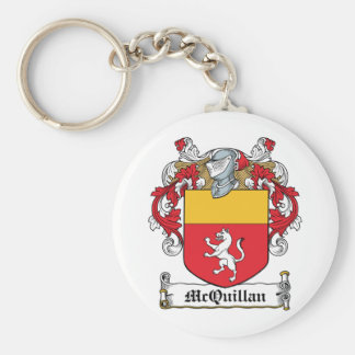 Escudo de la familia de McQuillan Llavero Redondo Tipo Pin