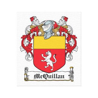 Escudo de la familia de McQuillan Lona Estirada Galerias