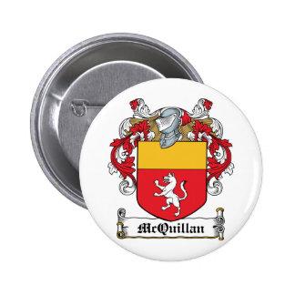 Escudo de la familia de McQuillan Pin Redondo De 2 Pulgadas