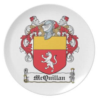 Escudo de la familia de McQuillan Plato