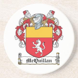 Escudo de la familia de McQuillan Posavasos Manualidades