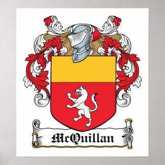 Escudo de la familia de McQuillan Póster