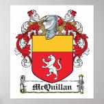 Escudo de la familia de McQuillan Posters