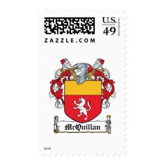 Escudo de la familia de McQuillan Sello Postal