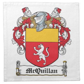 Escudo de la familia de McQuillan Servilletas Imprimidas