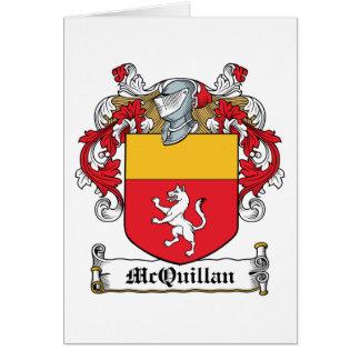 Escudo de la familia de McQuillan Tarjeta De Felicitación