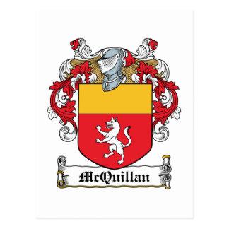 Escudo de la familia de McQuillan Tarjetas Postales