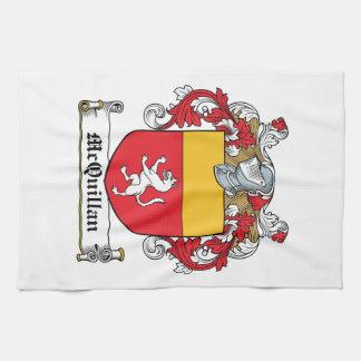 Escudo de la familia de McQuillan Toallas