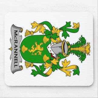 Escudo de la familia de McRannell Tapetes De Raton