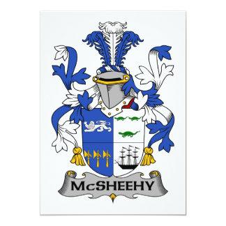 """Escudo de la familia de McSheehy Invitación 5"""" X 7"""""""
