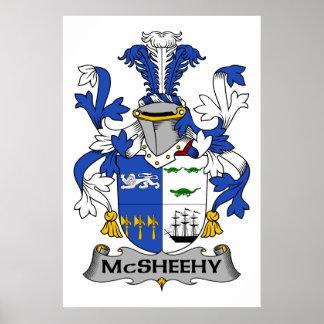 Escudo de la familia de McSheehy Póster